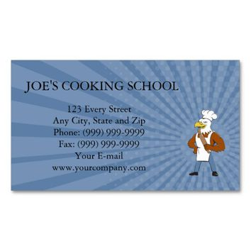 Business card Bald Eagle Baker Chef Rolling Pin Ca
