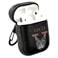 GUCCI tide brand personality cat print airpods1/2 wireless Bluetooth headset shell