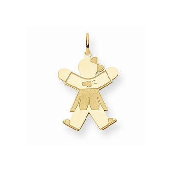 14k Yellow Gold Cheerleader Girl Joy Charm