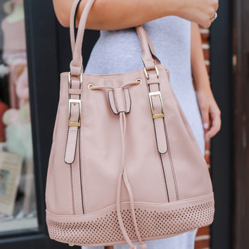 Miles To Go Bucket Bag - Blush