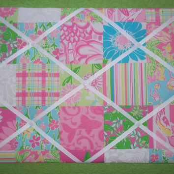 New memo board made with Lilly Pulitzer Pool House by jlmyakima