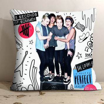 "Second of summer - 5SOS pillow case - Pillow Covers - Decorative Pillows - 18x18"" Pilow - 20x30"" Pillow"