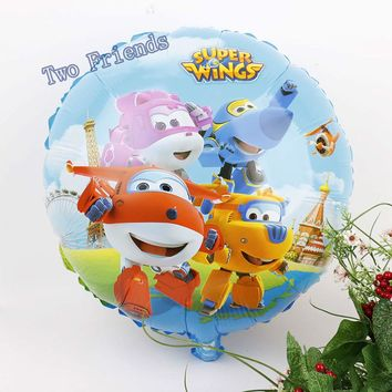 18inch Super Wings toys Jett foil balloons 20pcs SuperWings ballons Birthday Party Decorations baby shower air globos supplies