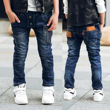 Children zipper jeans, boys pants fit for spring baby boys jeans children trousers Suitable: 3 4 5 6 7 8 9 10 11 12 13 14 years
