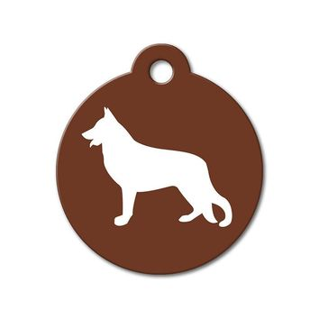 German Shepherd - Silhouette Pet Tag
