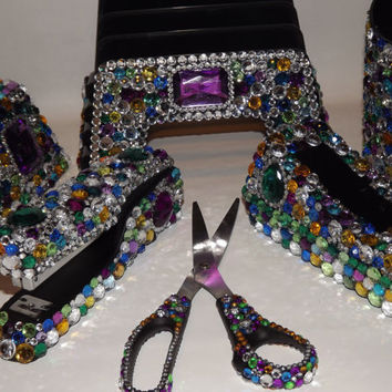 Wonderful Girly Office Supplies Bling Desk Supply Set By Evrhinestones With Design Decorating
