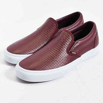 ONETOW Vans Classic Leather Slip-On