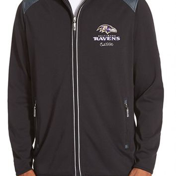 Men's Tommy Bahama 'Goal Line - Baltimore Ravens' NFL Full Zip Jacket,