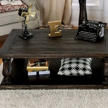 Furniture of america CM4455C Granard weathered walnut finish wood coffee table