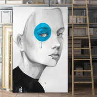 SELFLESSLY Wall Art Decorative Picture Prints on Canvas Modern Portrait Canvas paintings Wall Poster For living room no frame