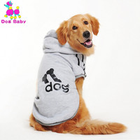 Dog Clothes for Golden Retriever Dogs Large Size Winter Dogs Coat Jacket Soft Clothing Sportswear 2XL-9XL Red Bule Yellow Gray
