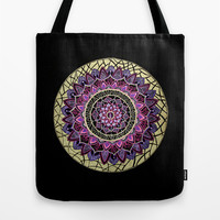 Pink and Gold Mandala Tote Bag by YiaEfthimia
