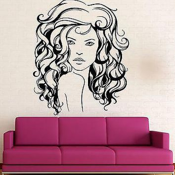 Wall Sticker Vinyl Decal Sexy Girl Beautiful Hair Style Salon Spa Unique Gift (ig2099)