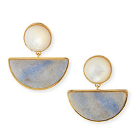 Geometry Quartzite Drop Earrings - Lizzie Fortunato