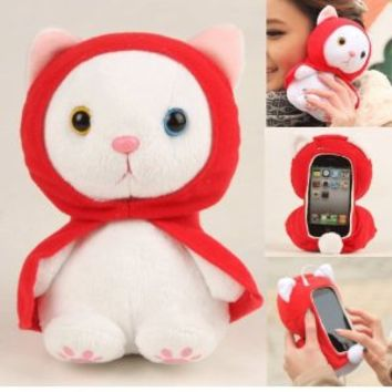 Cool Buy Authentic Plush Toy Case for Iphone 4 Iphone 4s LG connect phone and iTouch -- Best Quality with One Year Warranty Only From Cool Buy-- Red Cloak Cat