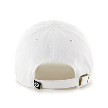 "Green Bay Packers White ""Clean Up"" Adjustable Cap - '47 Brand NFL Relaxed Fit Baseball Hat"