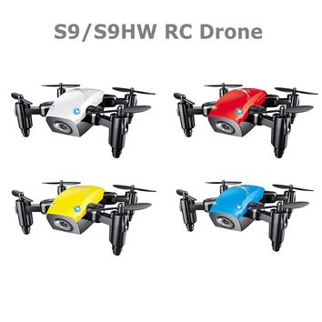 S9HW Mini Drone With Camera S9 No Camera RC Helicopter Foldable Drones Altitude Hold Quadcopter WiFi FPV Pocket Dron Toy
