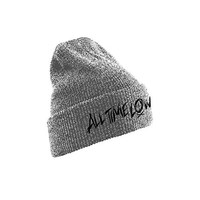 All Time Low Scratch Logo Official Mens New Grey Beanie Hat One Sizes