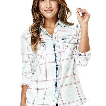 Bliss Washed Plaid Shirt