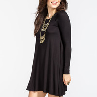 Full Tilt A Line Dress Black  In Sizes