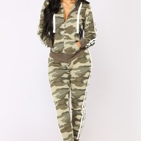 Camo Inside With Me Jogger - Olive