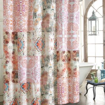 Poetic Wanderlust™ by Tracy Porter Wish Patchwork Cotton Shower Curtain | Dillards