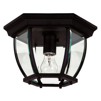 Dural Flush Mount Ceiling Light (Black)