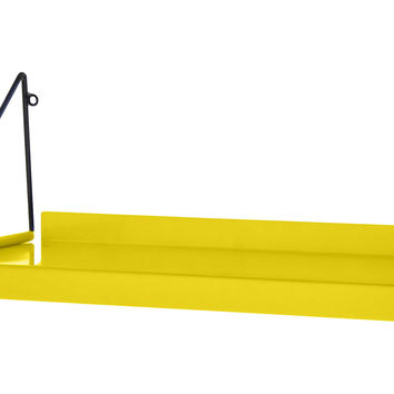 Metal Wall Shelf, Yellow, Wall Storage & Organization