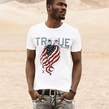 True Religion Eagle Mens T-shirt - Optic White