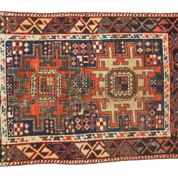 2.5x3.5 Antique Caucasian Rug Mat