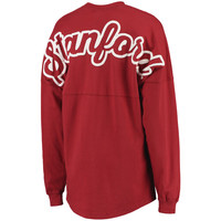 Women's Venley Cardinal Stanford Cardinal Jade Script Football Long Sleeve T-Shirt
