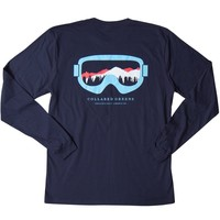 Season Pass Long Sleeve T-Shirt in Navy by Collared Greens