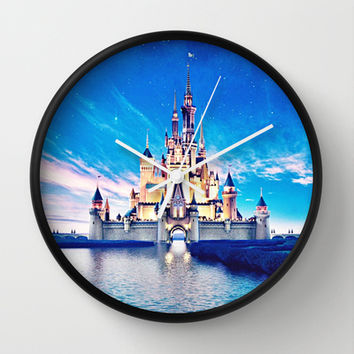 Disney Magic Castle Wall Clock by Courtney Marie | Society6