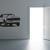 American Muscles Hot Rod Antique Ride Hot Garage Mancave Decor Sticker  R012