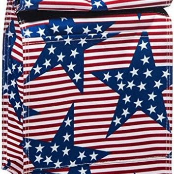 Red White Blue Stars Insulated Lunch Tote Bag