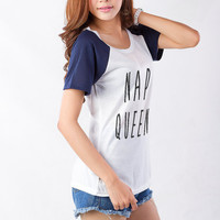 Nap Queen Cute Graphic Tee Cute Tumblr T Shirt TShirt Hipster Fashion Tops Raglan Shirt T Shirt Instagram Urban Streetwear Grunge Clothing
