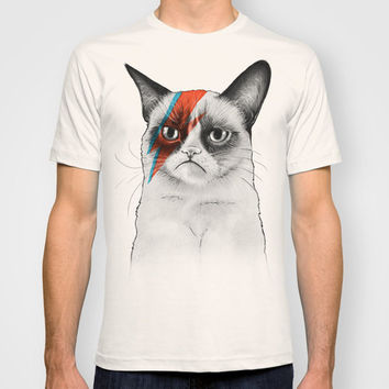 Grumpy Cat as Grumpy Bowie, David NOie T-shirt by Olechka | Society6