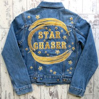 Star Chaser Vintage Denim Jacket - Denim & Bone