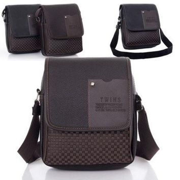 LMFON Fashion Men's Synthetic Sport Leather Bag VIntage Handbag Shoulder Tote Bag Messenger Briefcase