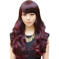 Fashion Girls Wig Long Curly Hair Scroll Cute Fluffy with Bangs