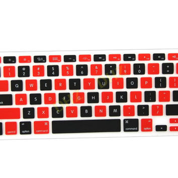 "Red and Black Checkerboard Pattern Keyboard Cover Decal Skin for Apple Macbook Macbook Pro iMac Keyboard  13"" 15"" 17"""