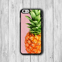 PINK Pineapple Printed Wood iPhone CASES, Tropical FRUIT iPhone 6, iPhone 6 Plus, iPhone 5 Hard Case, Soft Silicon, Plastic Accessory Woman