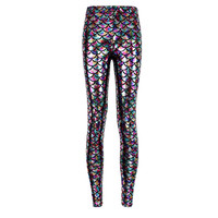 wholelsales Summer style women's Scale leggings 10 color S XL size Simulation mermaid sexy pants Digital print colorful leggings-in Leggings from Women's Clothing & Accessories on Aliexpress.com | Alibaba Group