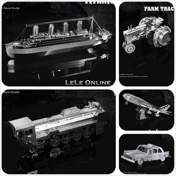 Educational 3D Puzzle Metal Model Military Boeing 747 Fokker Beth Piano Originality DIY Children Kids Gift DIY Toy