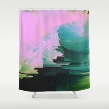 Say Goodbye Shower Curtain by Ducky B