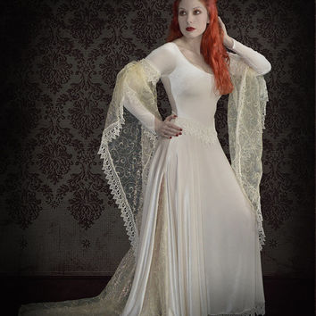 Tianna Gothic Wedding Dress / Fairy Dress in colors - Custom Romantic Gothic Clothing