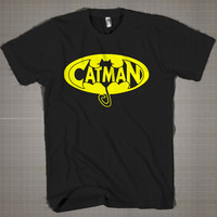 Catman  Mens and Women T-Shirt Available Color Black And White