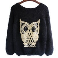 Black Lovely Ow LSuper Warm Sweater on Luulla