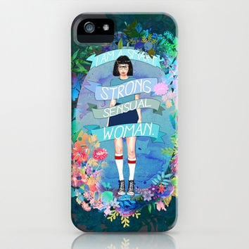 Smart, Strong, Sensual iPhone & iPod Case by Sara Eshak