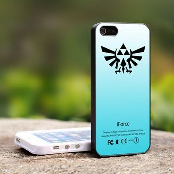 The Legend of Zelda iForce Mint Trifor - For iPhone 5 Black Case Cover